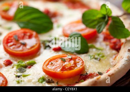 Style Italien pizza végétarienne Banque D'Images