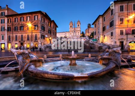 Au crépuscule d'Espagne Rome Italie Europe Banque D'Images
