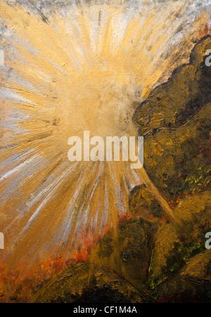 Peinture de coucher du soleil - par Betina Silva Banque D'Images