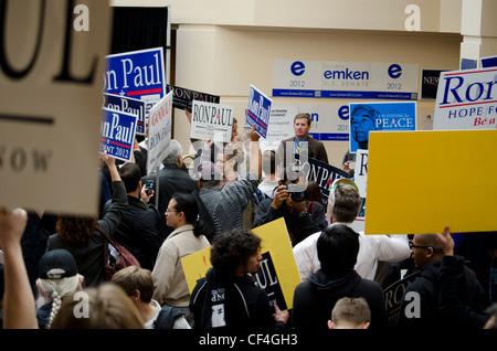 Ron Paul partisans au California State convention 2/25/2012 GOP.