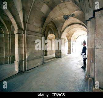La vie de la Reine garde. Horse Guards est nommé d'après les soldats qui ont monté la garde sur la vie de la Reine Banque D'Images