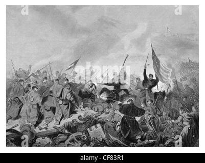 Capture du Fort Donelson Tennessee par les forces de l'Union sous le général U. S. Grant 1862 Banque D'Images