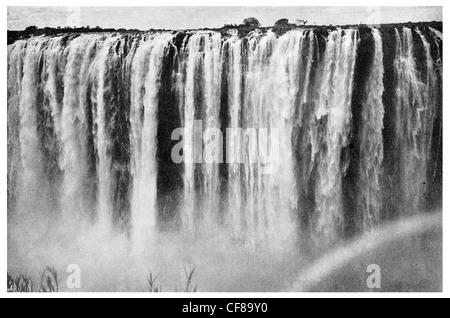 1926 Victoria Falls Victoria Falls Rainbow Automne Mosi-oa-Tunya Tokaleya Tonga: la fumée qui tonne Banque D'Images