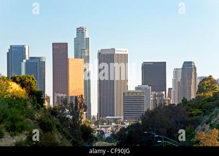 Pasadena Freeway (CA) La route 110 menant au centre-ville de Los Angeles, Californie, États-Unis d'Amérique Banque D'Images