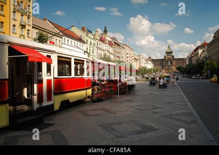 Wenceslas Square, Prague, République Tchèque Banque D'Images