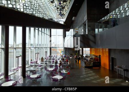 HARPA Concert Hall, et le centre de conférence, Reykjavik, Islande Banque D'Images