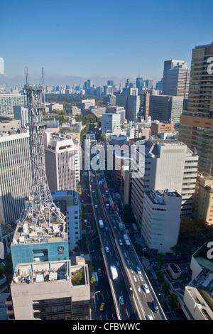 Le Japon, en Asie, Tokyo, ville, shuto, autoroute, ville, District, Marunouchi, Akasaka, salon, architecture, pont, Banque D'Images