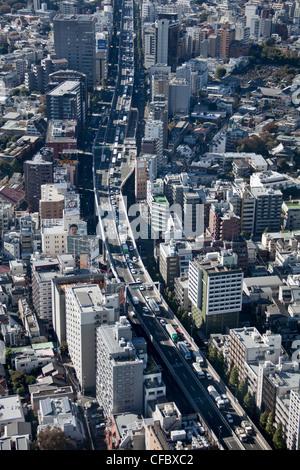 Le Japon, en Asie, Tokyo, ville, Shuto Expressway, -Shibuya, architecture, big, les bâtiments, la ville, l'élevé, Banque D'Images