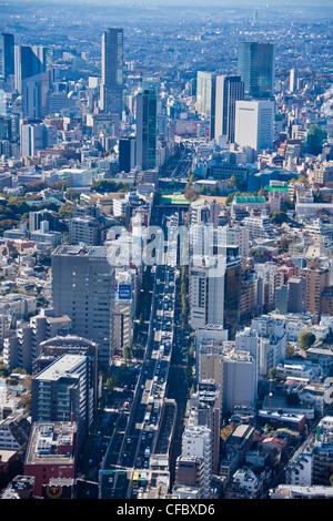 Le Japon, en Asie, Tokyo, ville, Shuto Expressway,, Shibuya, architecture, big, les bâtiments, la ville, l'élevé, Banque D'Images