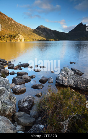 Cradle Mountain et Dove Lake, Cradle Mountain-Lake St Clair National Park, UNESCO World Heritage Site, Tasmanie, Banque D'Images