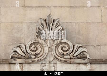 Détails décoratifs en pierre ancienne. Banque D'Images