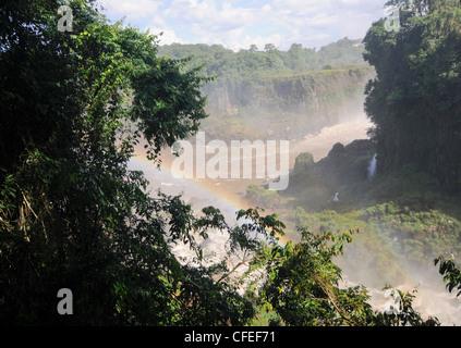 Iguazu Falls Rainbow Banque D'Images