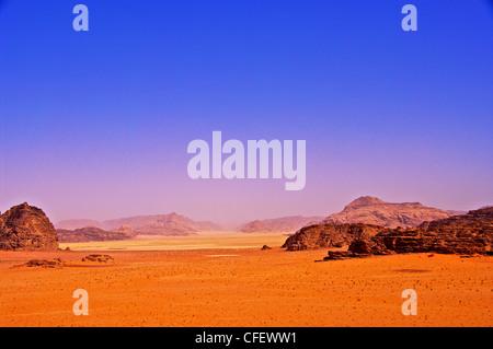Le désert de Wadi Rum en Jordanie
