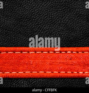 Une texture de cuir brun. haute résolution. Banque D'Images