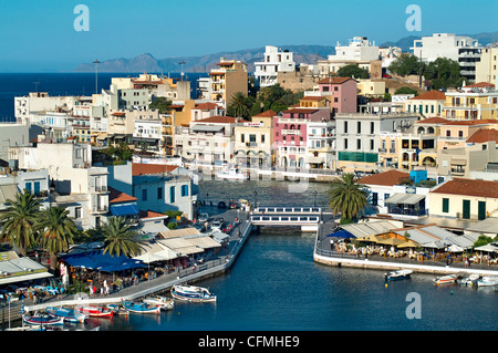 Port d'Agios Nikolaos, Crète, Grèce Banque D'Images