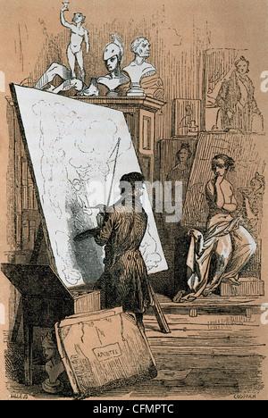 Wenceslao Ayguals de Izco (1801-1875). L'écrivain espagnol. Les riches et les pauvres ou la sorcière de Madrid. Banque D'Images