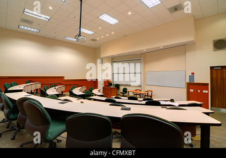 Intérieur d'une salle de conférence du Collège Banque D'Images