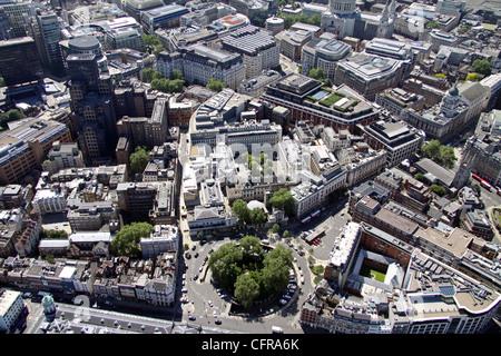 Vue aérienne de St Barts Hospital, Londres Banque D'Images