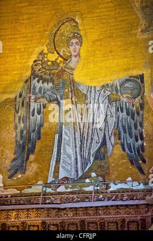 Mosaïque byzantine d'un Ange, Hagia Sophia Istanbul, Turquie Banque D'Images
