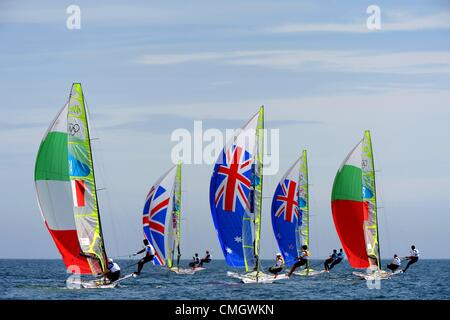 la voile olympique action pendant les jeux olympiques de 2012 londres au lieu de weymouth et. Black Bedroom Furniture Sets. Home Design Ideas