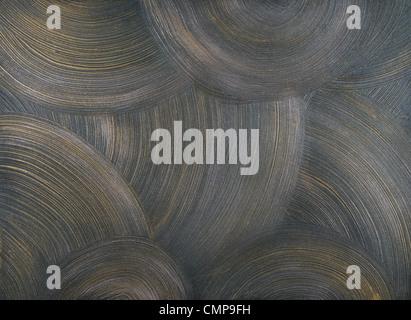 La texture des murs recouverts de peinture grise, avec de fréquents coups de centric, ronde, et des fragments de Banque D'Images