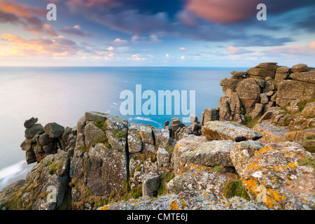 Pordenack Point, Land's End, Cornwall, Angleterre, Royaume-Uni, Europe Banque D'Images