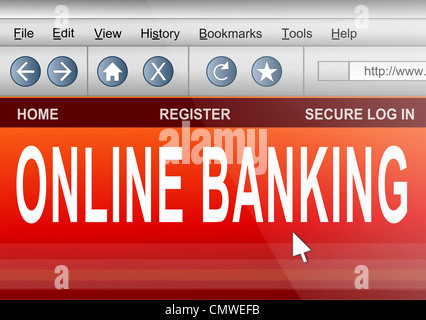 Concept de banque en ligne. Banque D'Images