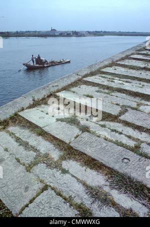 Détail de ceinture précieux pont sur le Grand Canal, un site du patrimoine mondial de l'humanité dans Suzhou Chine Banque D'Images