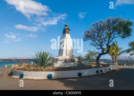 La statue du Maréchal Joffre à Diego Suarez (Anrsiranana), au nord de Madagascar Banque D'Images