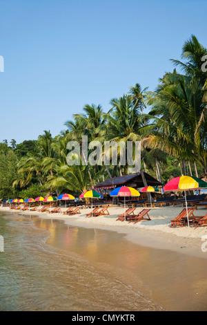 La province de Trat, Thaïlande, Koh Chang, Koi Khong Beach Banque D'Images