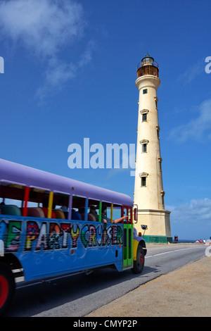 West Indies, Bonaire, Antilles, Aruba, California lighthouse, Bus Parti Cruiser