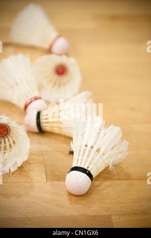 Volants de badminton Banque D'Images