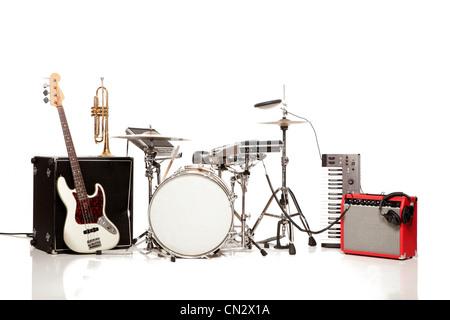 Kit de batterie, studio shot Banque D'Images