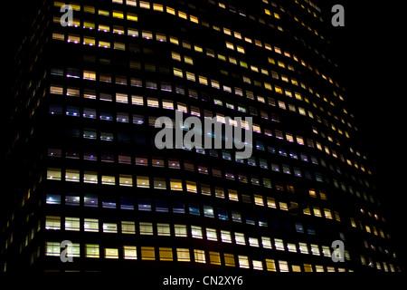 Gratte-ciel de nuit, Londres, Angleterre Banque D'Images