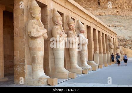 Egypte - Vallée des Reines, Temple d'Hatshepsout, l'Unesco Banque D'Images