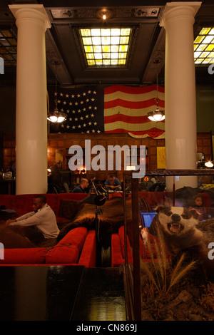 United States, New York, Manhattan, l'établissement Ace hotel, hall, 20 à l'Ouest sur la 29ème rue Banque D'Images