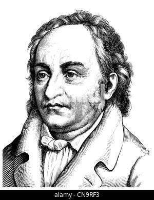Dimensions historiques, 19e siècle, Jean Paul ou Johann Paul Friedrich Richter, 1763 - 1825, un écrivain allemand