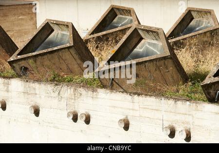 France, Rhône, Eveux sur Abresle, Sainte Marie de la Tourette couvent construit par Le Corbusier en 1953 Banque D'Images