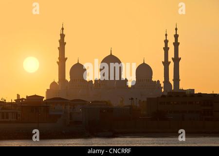 Abu Dhabi, du stade de Sheikh Zayed Mosque Banque D'Images