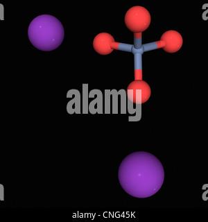 Molécule de chromate de potassium Banque D'Images