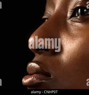 Extreme close up portrait of a Beautiful woman Banque D'Images