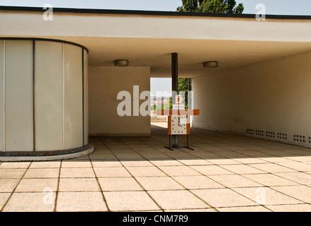 Maison Tugendhat, Brno, République tchèque, de l'unité d'entreposage et de l'armoire de chambre à coucher conçu Banque D'Images