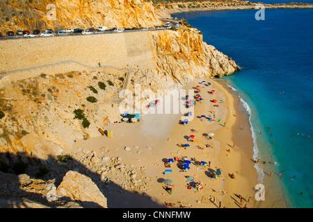 Kaputas beach. Antalya province. côte méditerranéenne. La Turquie Banque D'Images