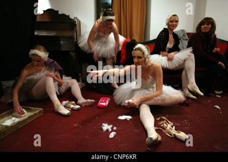 Le Lac des cygnes Ballet de Piotr Tchaïkovski au Théâtre National de Belgrade, Serbie. Banque D'Images