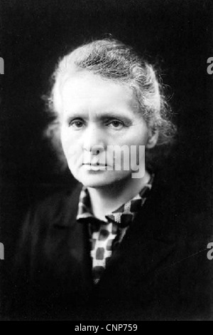 MARIE CURIE (1867-1934) physicien polonais qui furent les pionniers de la recherche sur l'activité de radio Banque D'Images