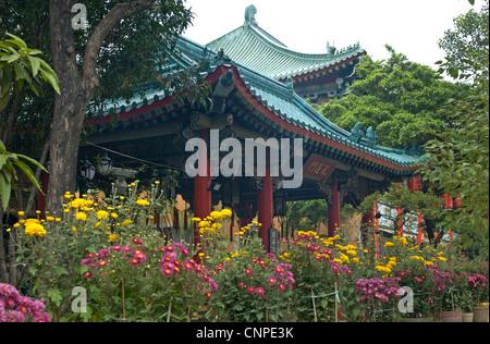 Ornate Building dans les motifs de la Sik Sik Yuen Wong Tai Sin Temple Hong Kong, Extrême-Orient Banque D'Images