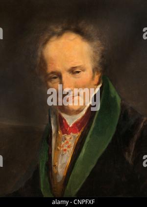 Le Baron Dominique Vivant Denon1747-1827 écrivain peintre français 1812 portrait par Pierre Paul Prud'hon 1758  Banque D'Images