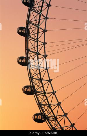 L'Angleterre, Londres, London Eye à l'aube Banque D'Images