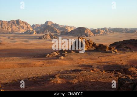 Désert du Wadi Rum, Jordanie Banque D'Images