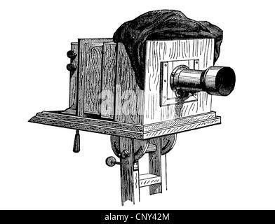 Appareil photo, caméra, historique de la gravure sur bois, vers 1888 Banque D'Images
